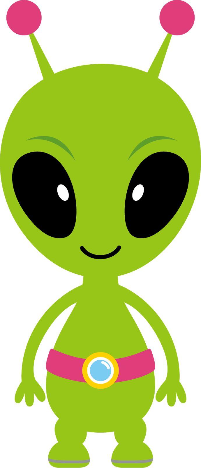Alien cartoon characters clipart