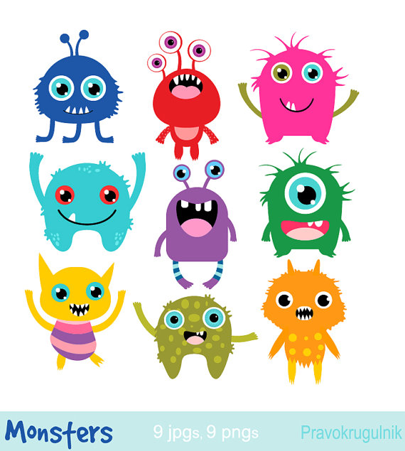 Alien clipart hair svg Little monsters clipart, Birthday party monsters, Monsters ... svg