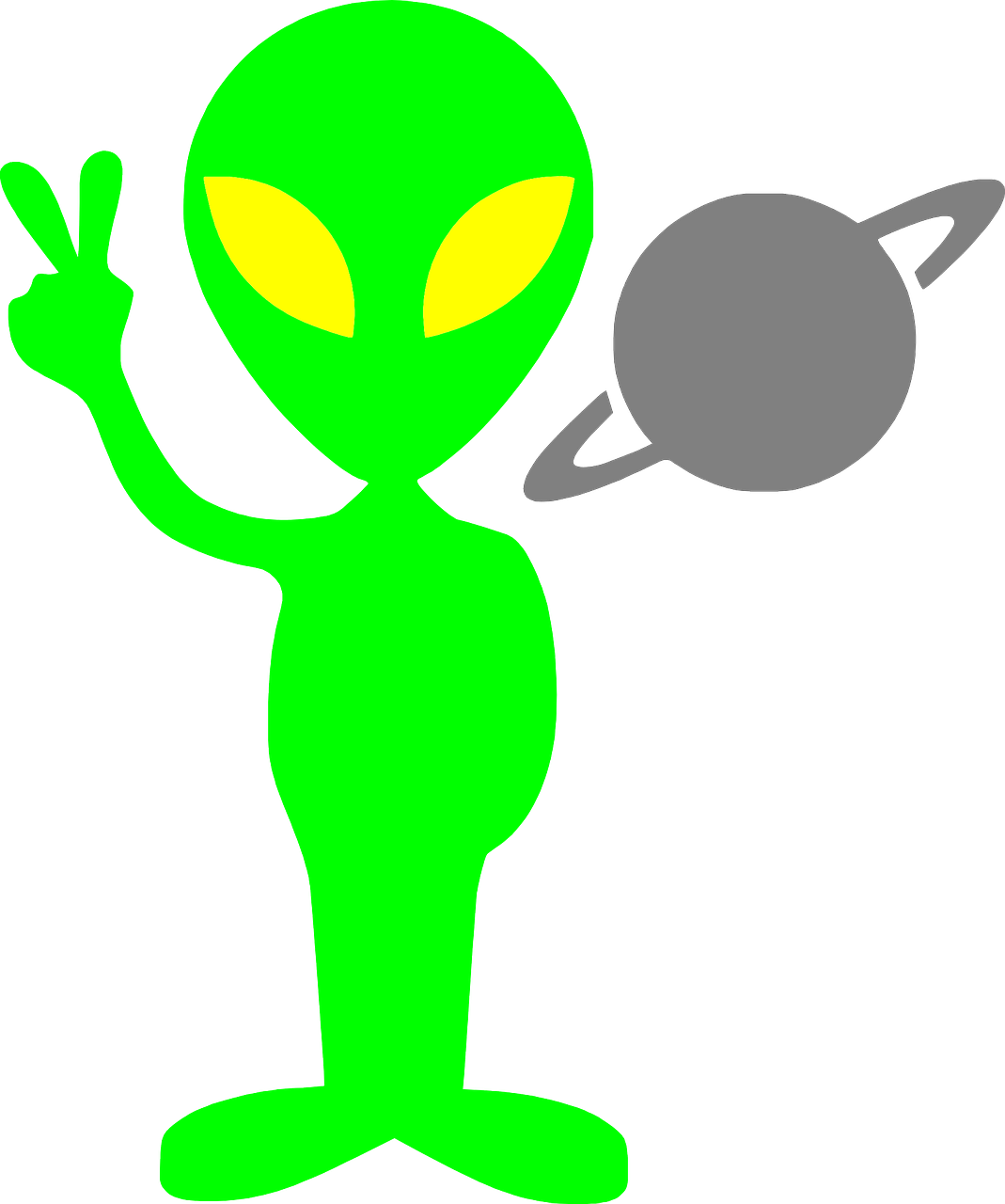 Alien clipart transparent picture library HD Alien Martian Saturn Planet Png Image - Alien Clipart , Free ... picture library