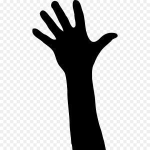 Alien hands clipart picture transparent download Human And Alien Hands Silhouette Vector Clipart   SOIDERGI picture transparent download