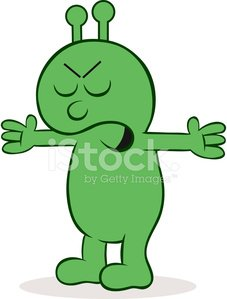 Alien hands clipart image library stock Furious Alien With Hands Raised premium clipart - ClipartLogo.com image library stock