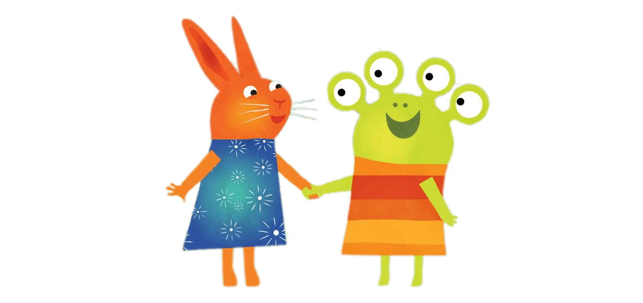 Alien hands clipart clip art royalty free Wanda and the Alien Holding Hands transparent PNG - StickPNG clip art royalty free