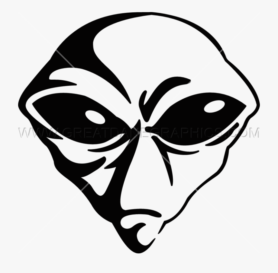 Alien head clipart free transparent black and white 15 Vector Alien Head For Free Download On Mbtskoudsalg - Alien Art ... black and white