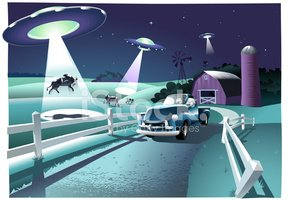 Alien invasion clipart banner black and white Alien Invasion stock vectors - Clipart.me banner black and white