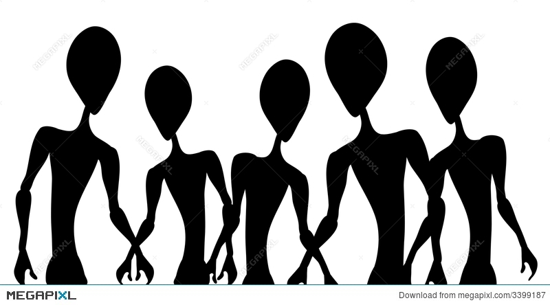 Alien invasion clipart graphic freeuse library Alien Invasion Figure Outlines Illustration 3399187 - Megapixl graphic freeuse library