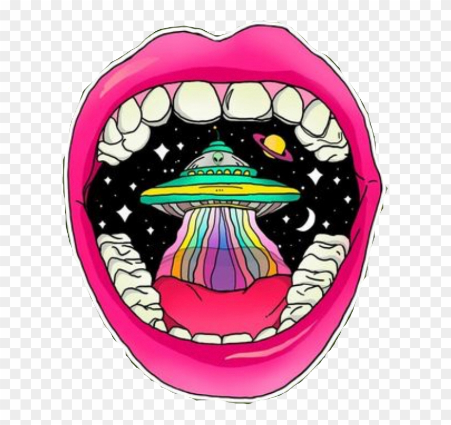 Alien mouth clipart clip art stock Trippy Rainbow Lips Alien Mouth Space Pink Freetoedit - Psychedelic ... clip art stock
