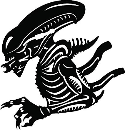 Aliens movie clipart svg transparent stock Aliens Xenomorph Vinyl Die Cut Decal svg transparent stock