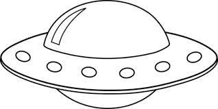 Alien spaceships clipart