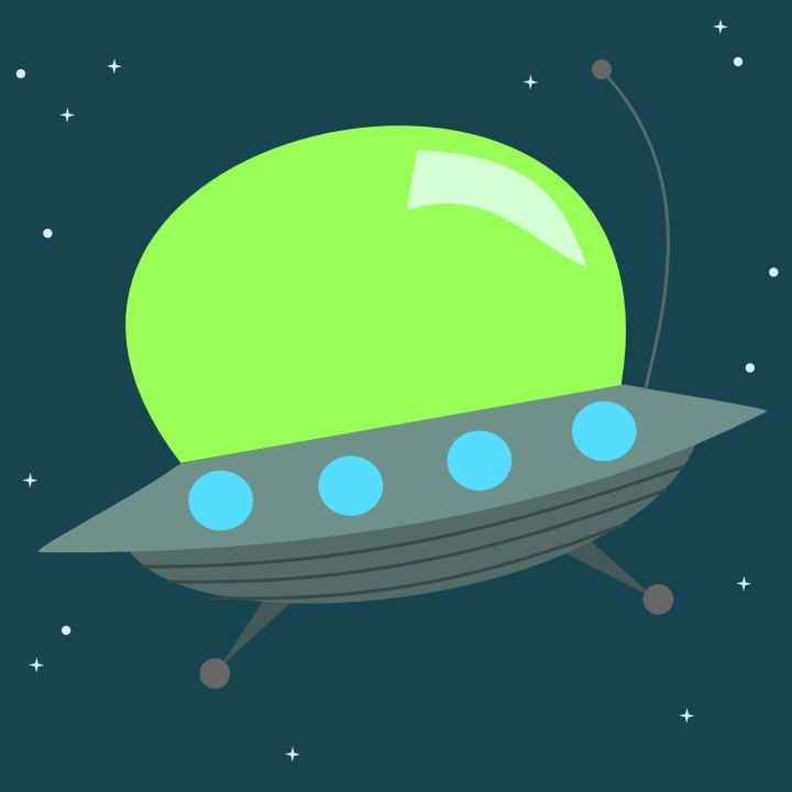 Alien ships color clipart svg free stock Cute Alien Space Ship - 8x8 - Choose your colors - Clip Art Library svg free stock