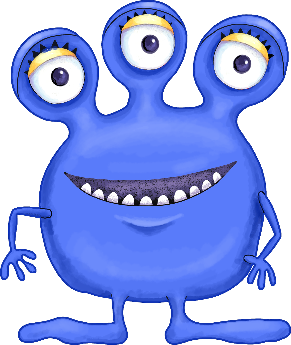 Alien with book clipart picture transparent library Your Free Art: Cute Blue, Purple and Green Cartoon Alien Monsters ... picture transparent library