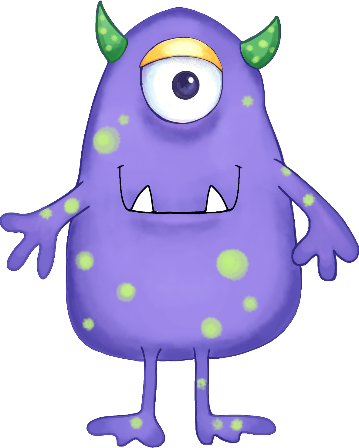 Cute halloween monster clipart free graphic transparent library Your Free Art: Cute Blue, Purple and Green Cartoon Alien Monsters ... graphic transparent library