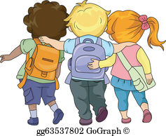 Grade school children clipart image library library School Walking Clip Art - Royalty Free - GoGraph image library library