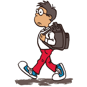Alking to school clipart clip royalty free library Boy Walking To School Clipart   Free Images at Clker.com - vector ... clip royalty free library