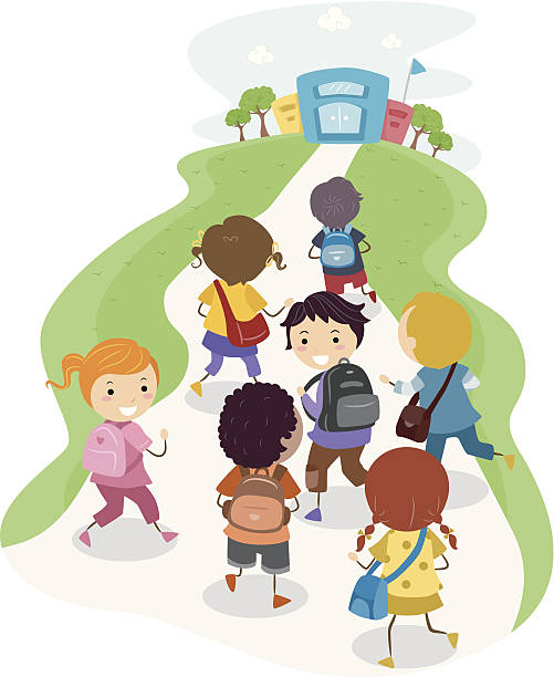 School illustrations and clipart image free download Kids Walking To School Clipart Images Illustrations Vecr ... image free download