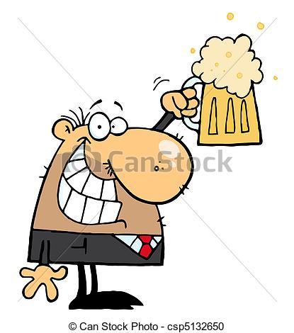 Vektor von feiern bier. Alkohol trinken clipart