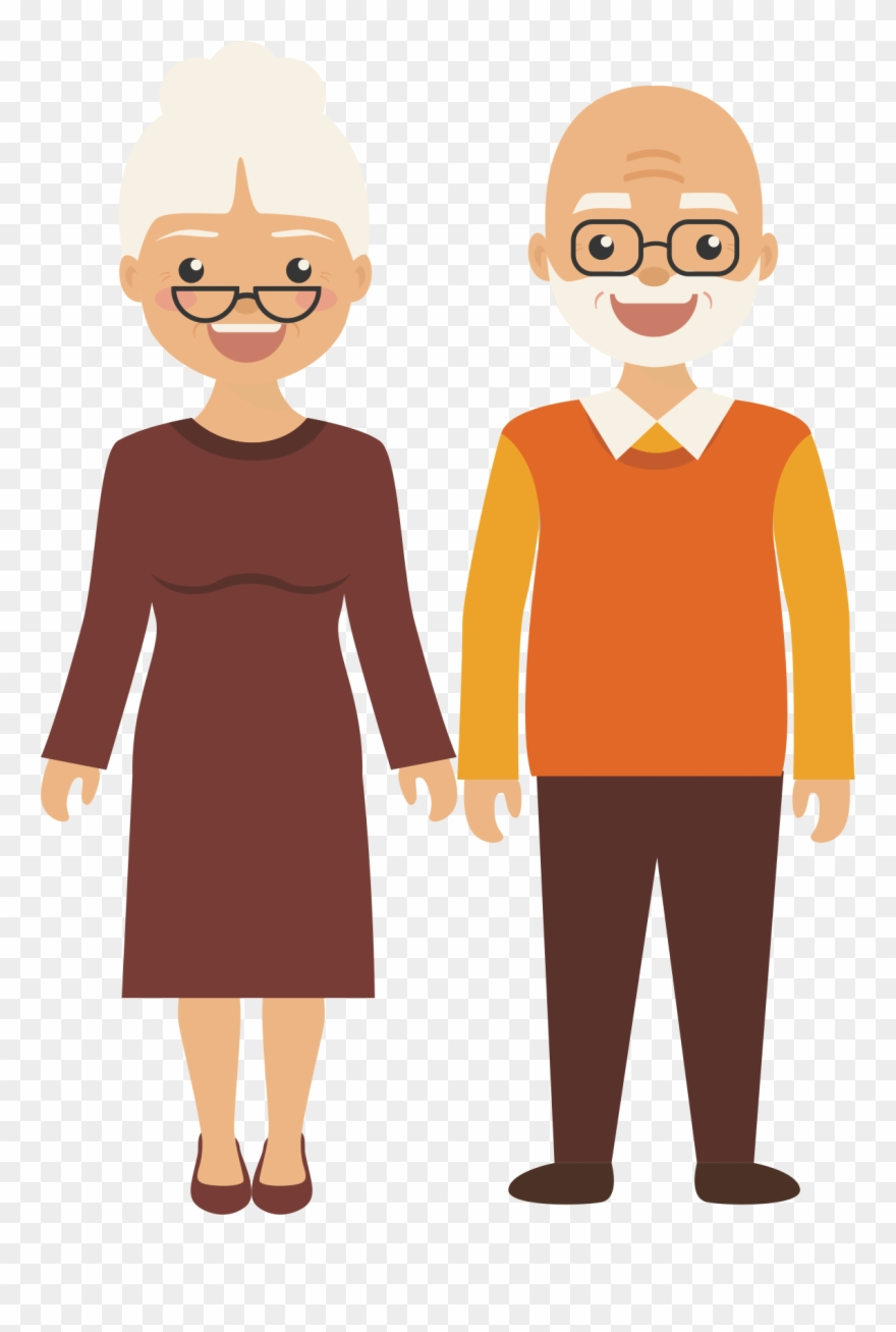 All ages clipart png library Old Age Clip Art - Elderly People Cartoon Png Transparent Png ... png library