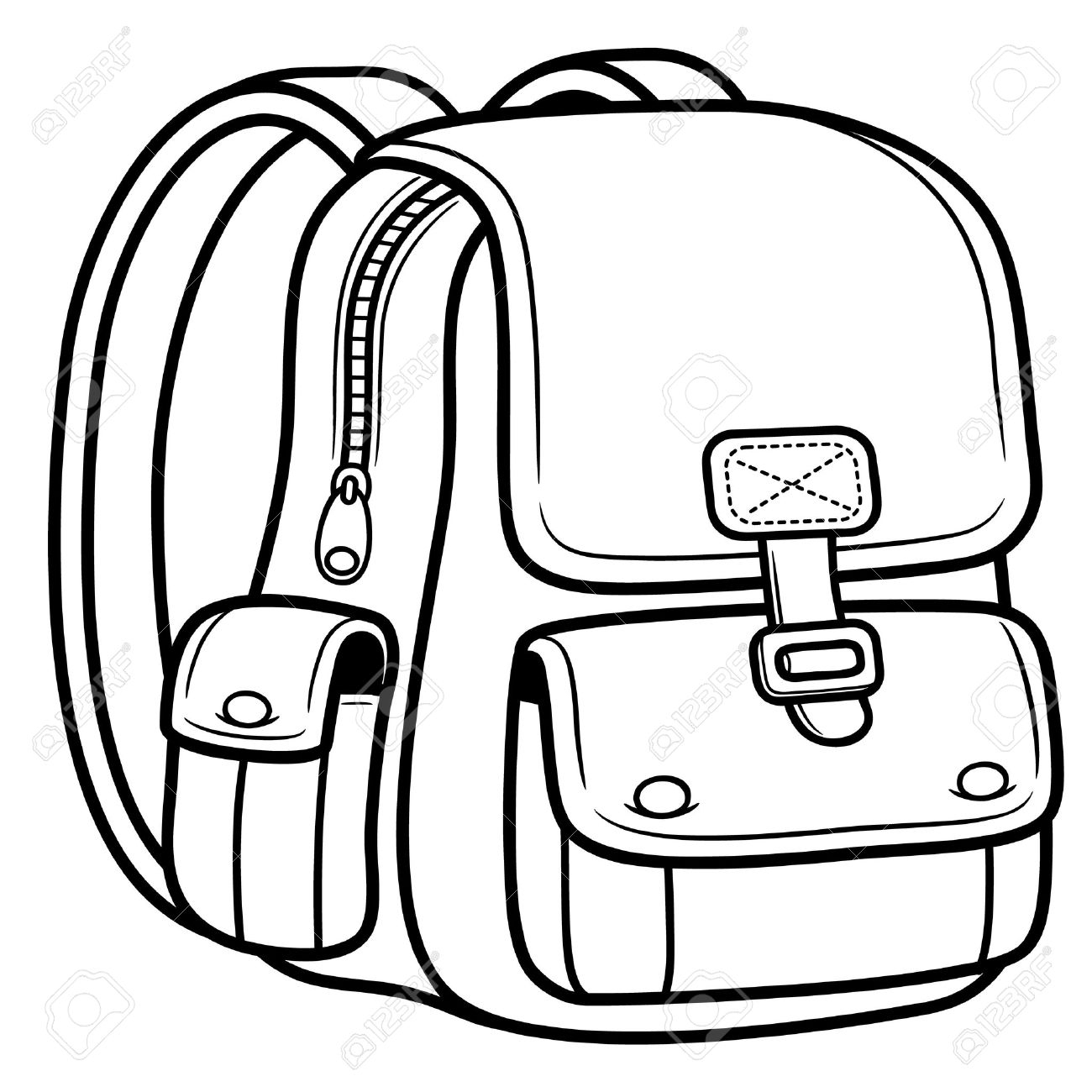 Color vs black and white clipart jpg library Bag Clipart Black And White Pencil And In Color Bag, Clip Art Black ... jpg library