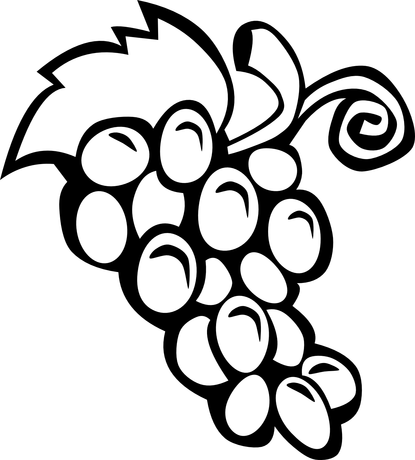All black and white clipart clip black and white download Fruits Clipart Black And White - Cliparts.co clip black and white download