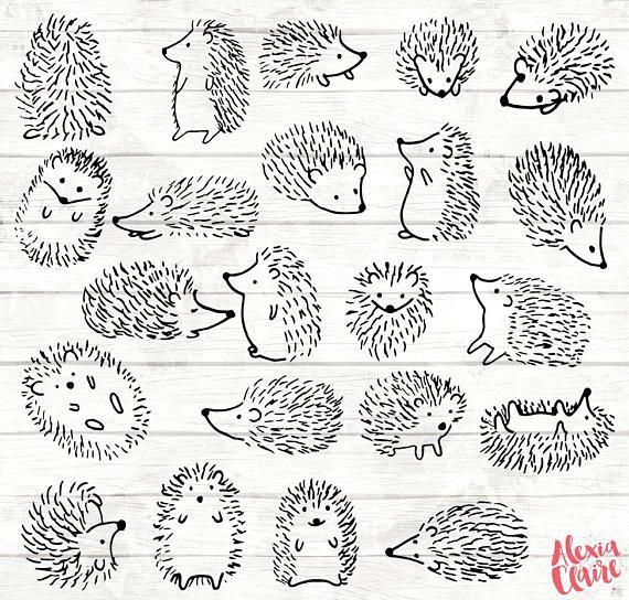 All black clipart hedgehog clip library download Hedgehog Clipart - 22 Hedgehog Doodle Clip art - Hedgehog card ... clip library download