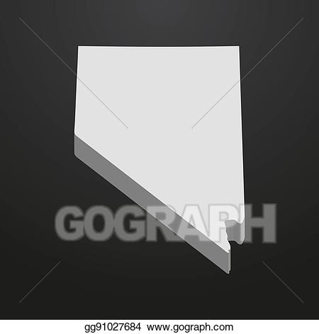 All black clipart of nevada svg stock Vector Illustration - Nevada state map in gray on a black background ... svg stock
