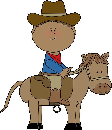 All black cowboy clipart