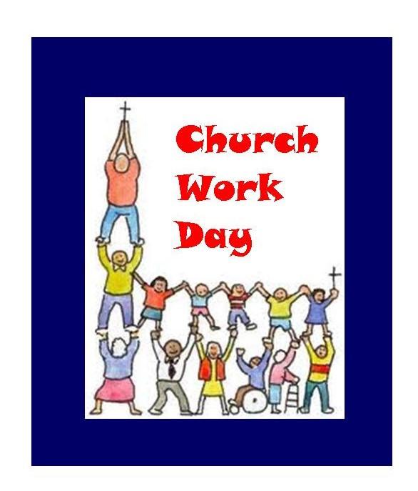 All church work day clipart