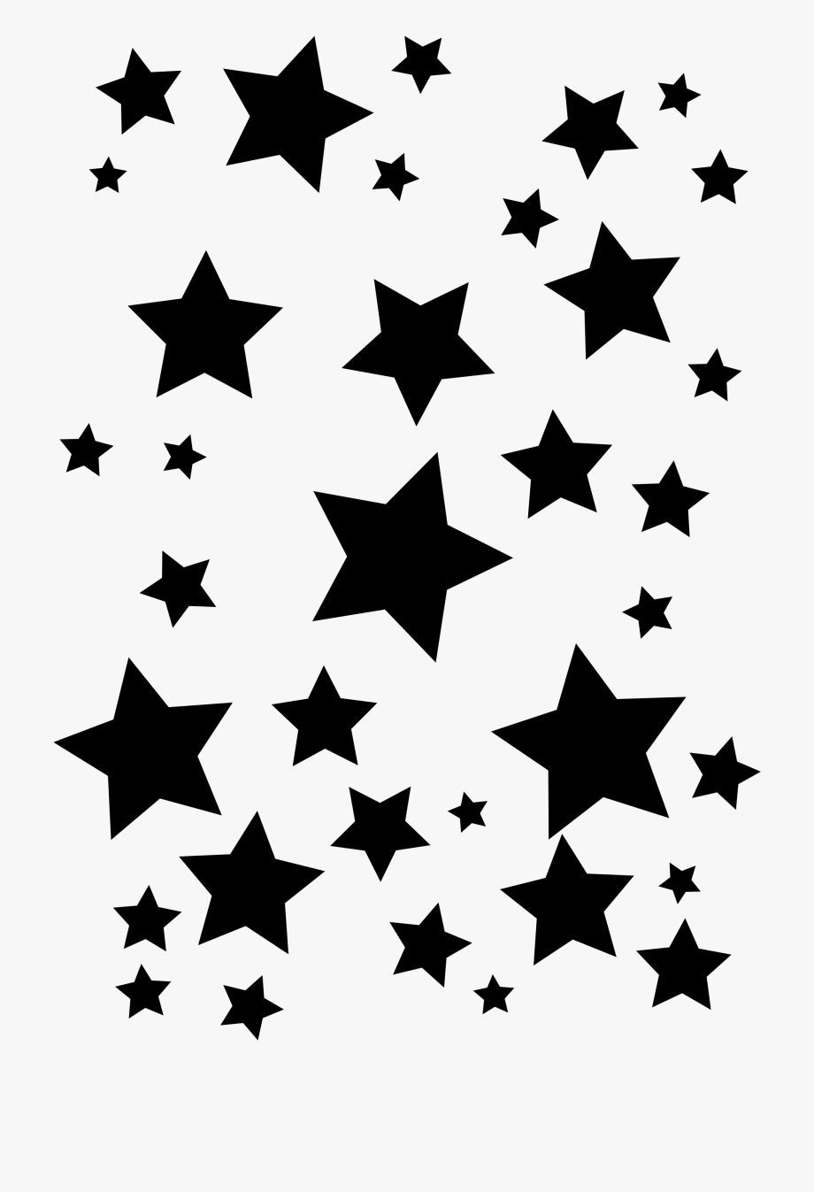 Black stars transparent background free clipart jpg free Royalty Free Library Cluster Of Stars Clipart Collection - Black ... jpg free
