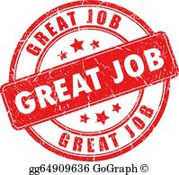 Free great job clipart vector royalty free stock Job Well Done Clip Art - Royalty Free - GoGraph vector royalty free stock