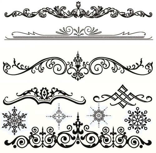 Vector white clipart ornament