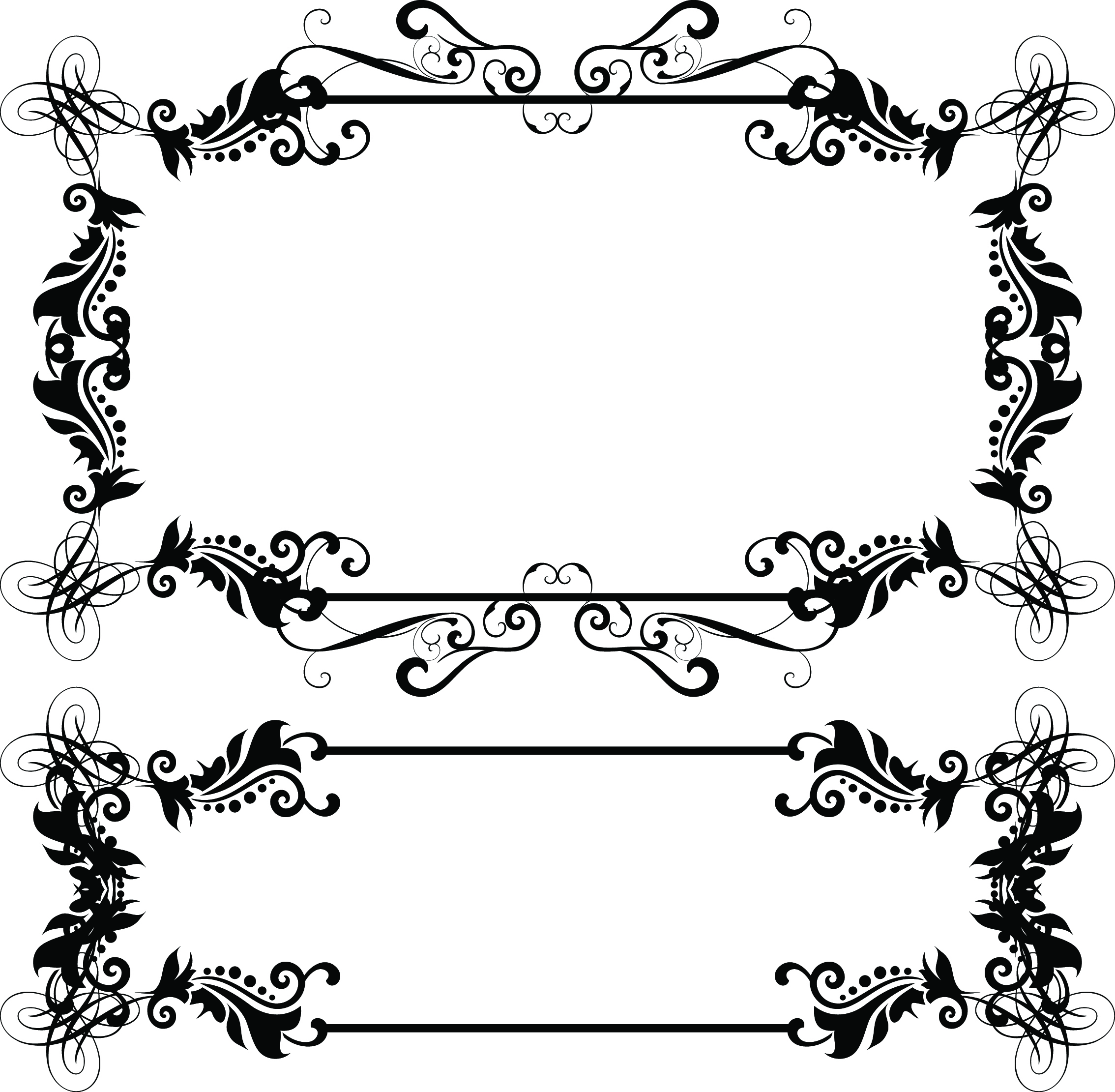 Islamic clipart borders clip art black and white Free Vector Borders, Download Free Clip Art, Free Clip Art on ... clip art black and white