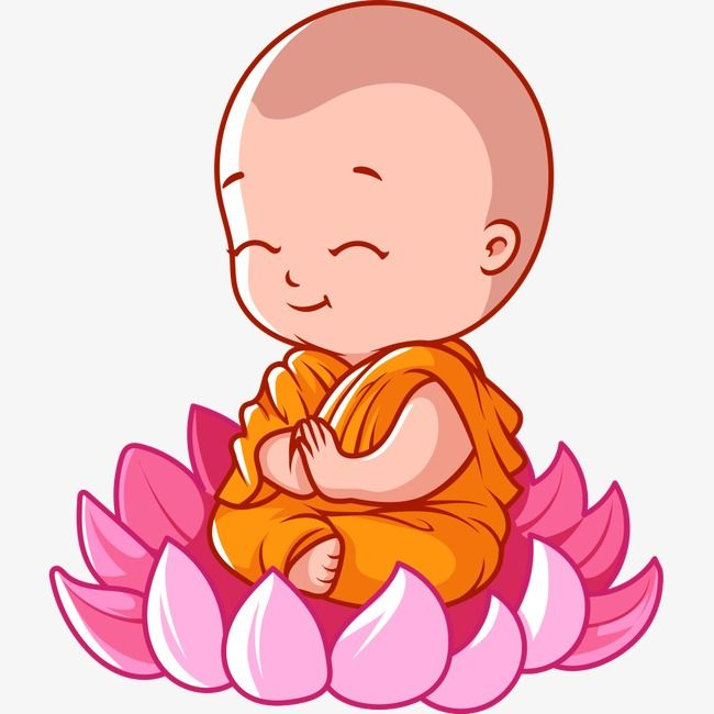 All good things free clipart baby sleeping graphic freeuse Cartoon Monk Lotus Seat, Lotus Seat, Cartoon, Monk PNG Transparent ... graphic freeuse