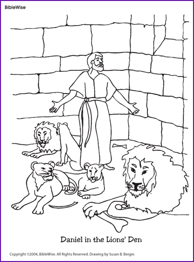 All good things free clipart daniel lions den png Coloring (Daniel in the Lions\' Den) - Kids Korner - BibleWise ... png