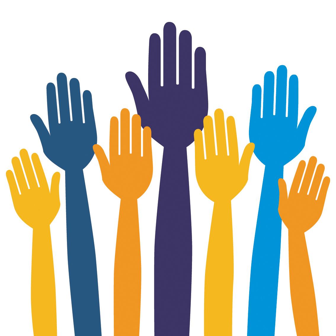 Volunteer hands clipart