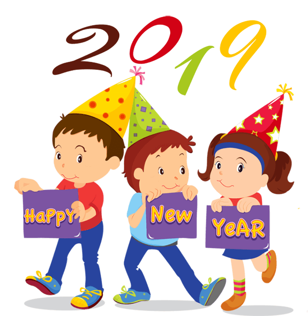 Free clipart for the new year 2019 vector library library Happy New Year Clipart & Graphics 2019 - New Year Clip Art Free Download vector library library