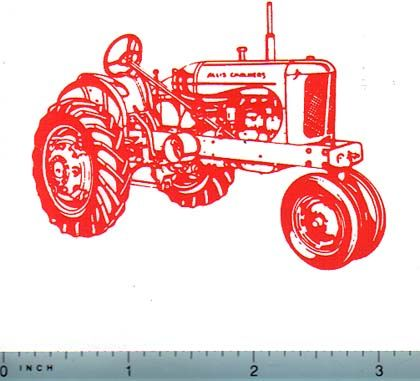 Wd45 allis chalmers clipart clipart freeuse library Decal Allis Chalmers WD Tractor (orange on clear) clipart freeuse library