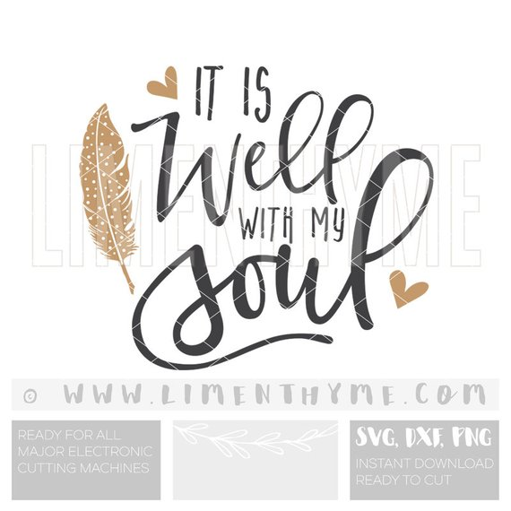 All is well with my soul clipart graphic free download SVG It is well with my soul / Christian art Bible verse lyrics ... graphic free download