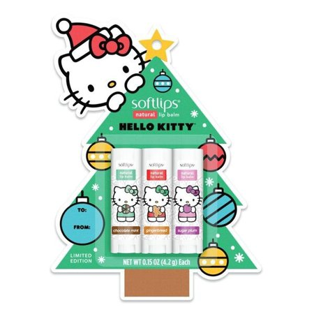 All natural lip balm clipart graphic library stock Softlips Hello Kitty Christmas Tree Lip Balm Chocolate Mint, Plum &  Gingerbread graphic library stock