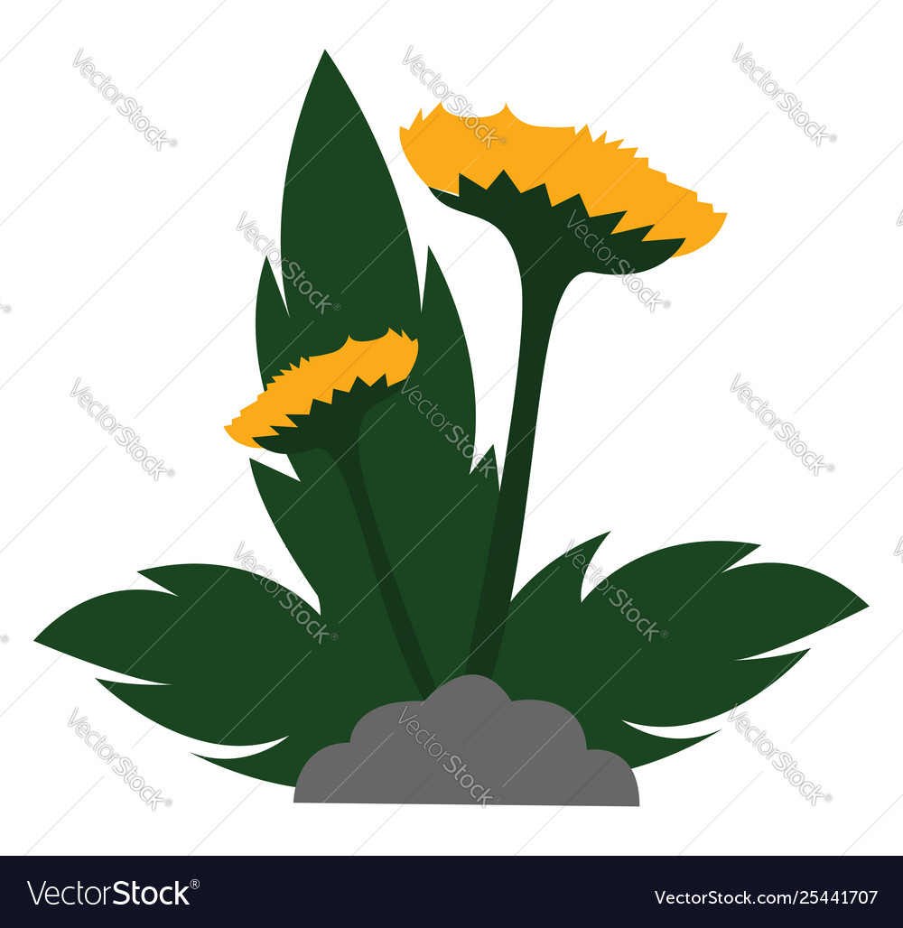 All of the above clipart jpg royalty free stock Clipart yellow flowers with leaves grown above jpg royalty free stock