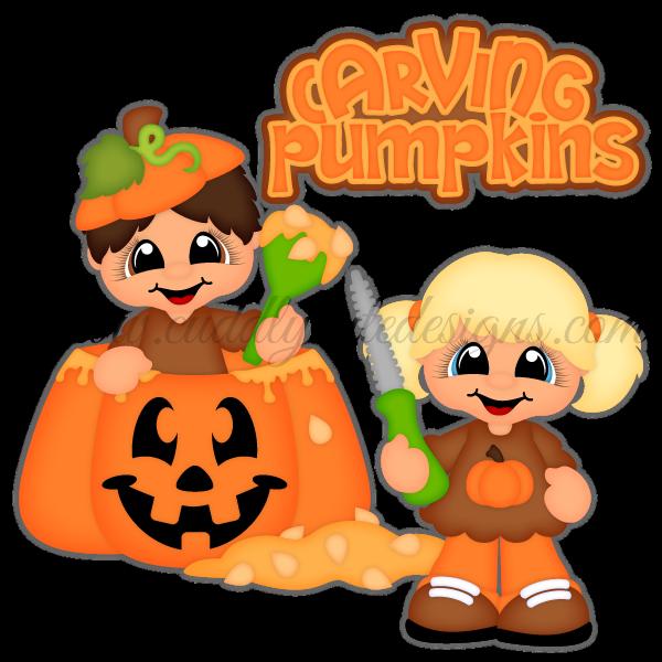 Carving a pumpkin clipart vector transparent download Halloween vector transparent download