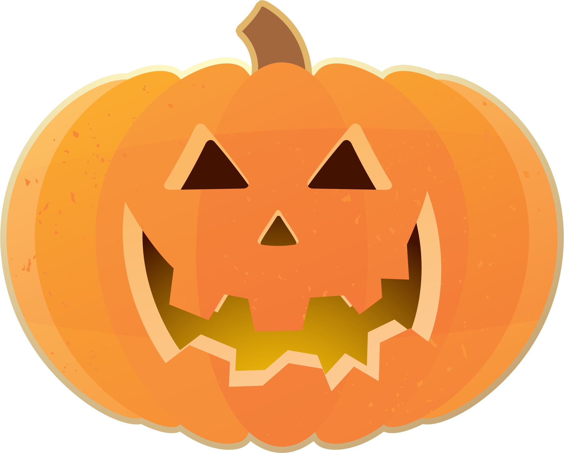 Happy halloween pumpkin clipart vector black and white library Free Pumpkin Clipart at GetDrawings.com | Free for personal use Free ... vector black and white library