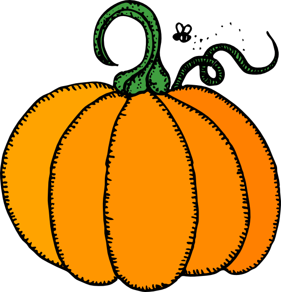 Vintage kids at the pumpkin patch clipart