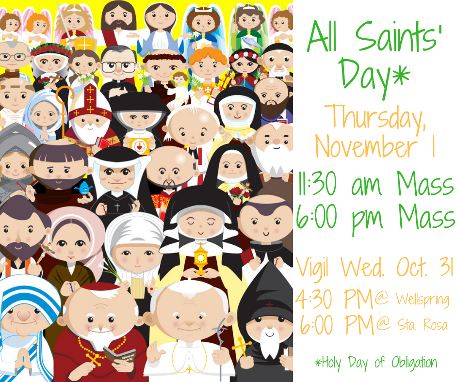 All saints sunday 2018 clipart vector library download Holy Day of Obligation: All Saints\' Day - November 1 | Santa Rosa de ... vector library download
