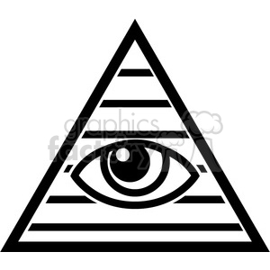 All seeing eye clipart black and white graphic black and white Illuminati clipart. Royalty-free clipart # 384828 graphic black and white