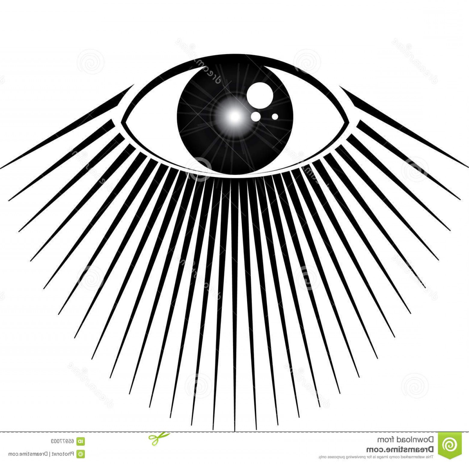 All seeing eye clipart black and white picture free download Stock Illustration All Seeing Eye Rays Light Image | SOIDERGI picture free download