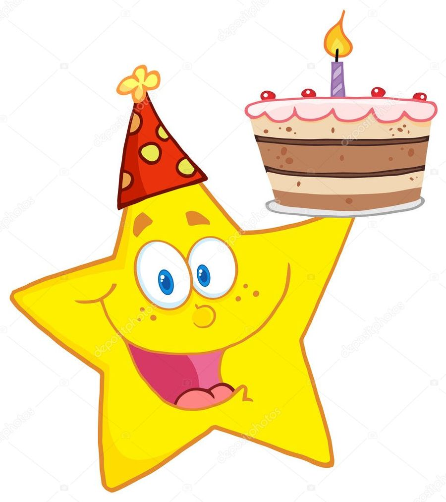 All star birthday clipart vector black and white stock Download happy star birthday clipart Birthday cake Clip art vector black and white stock