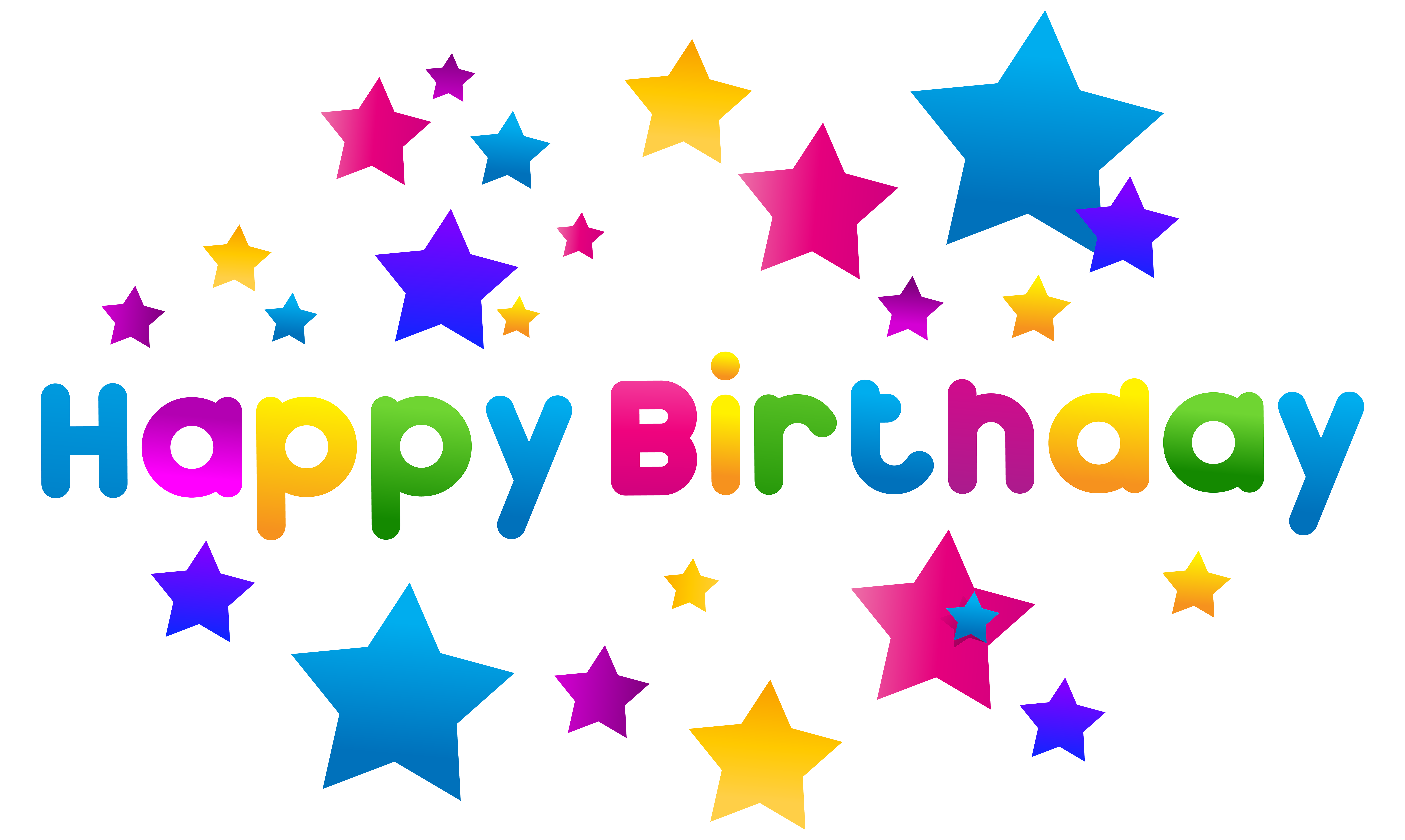 All star birthday clipart vector transparent download Happy Birthday Text Decor PNG Clipart Image | Gallery Yopriceville ... vector transparent download