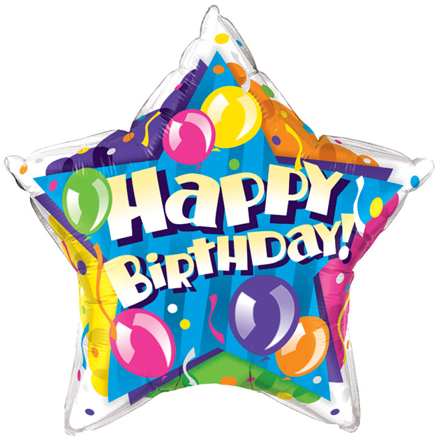 All star birthday clipart image transparent download Th birthday balloons clip art danasohgg top - Cliparting.com image transparent download