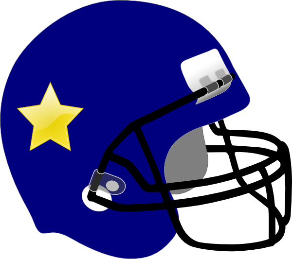 Free clipart football helmet freeuse stock Football Helmet-star On It Clip Art at Clker.com - vector clip art ... freeuse stock