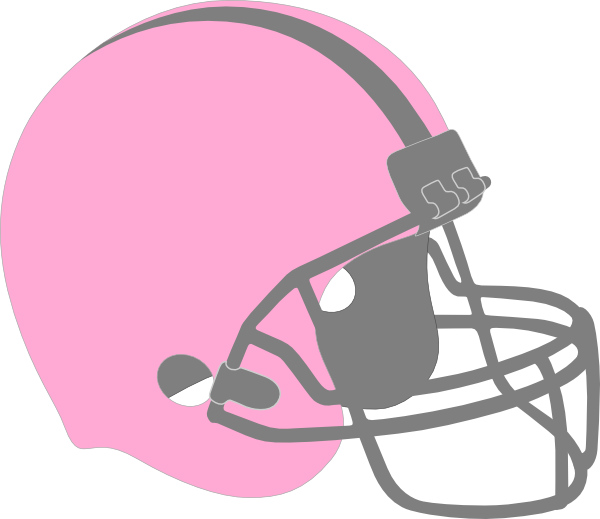 Football and helmet clipart png black and white library Pink Football Helmet Clip Art at Clker.com - vector clip art online ... png black and white library