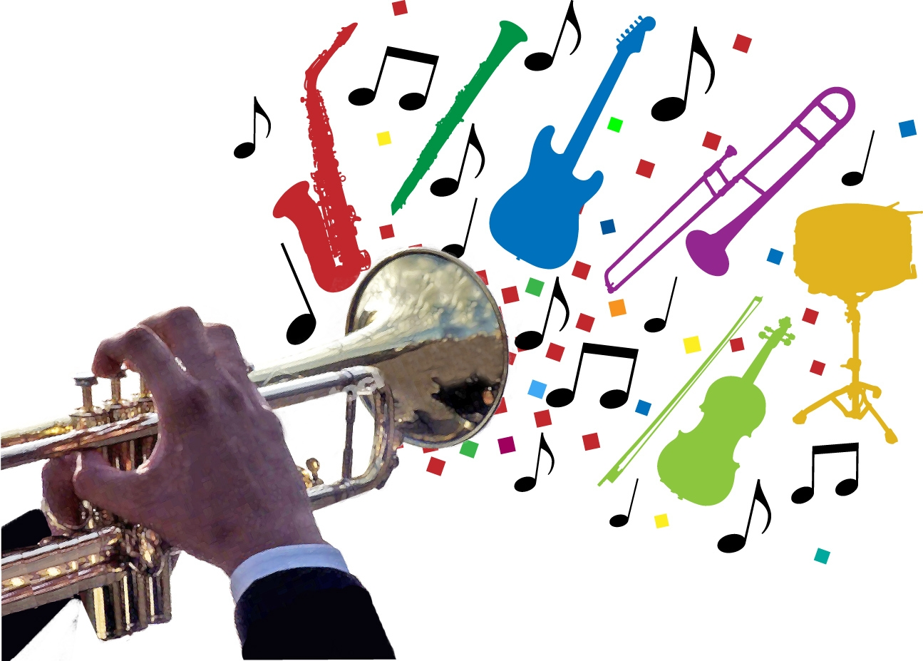Free jazz big band clipart transparent background graphic black and white stock 5MBS graphic black and white stock